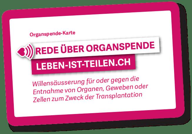 organspendeausweis karte How to get the card   LEBEN IST TEILEN